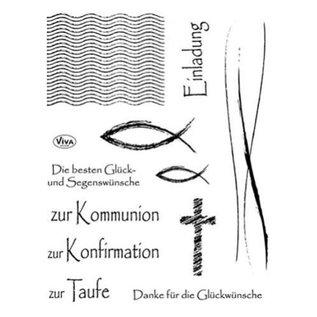 VIVA DEKOR (MY PAPERWORLD) timbre clair, fêtes chrétiennes, 12 timbres de festivals Viva Decorstliche, 12 timbres de Viva Decor