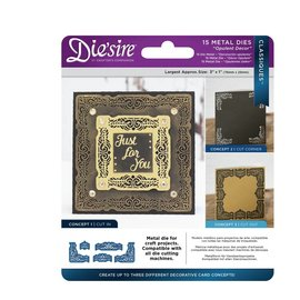 Die'sire Cutting and embossing stencils: Classiques Corner, Opulent Decor