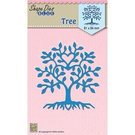 Nellie Snellen Centre commercial de coupe et de gaufrage: arbre en forme de coeur