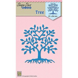 Nellie Snellen Cutting and embossing mall: tree in heart shape