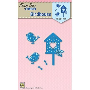 Nellie Snellen Cutting and embossing mall: Birdhouse