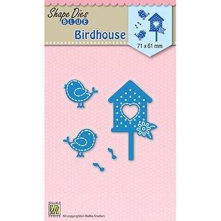 Nellie Snellen Snij en embossing mall: Birdhouse