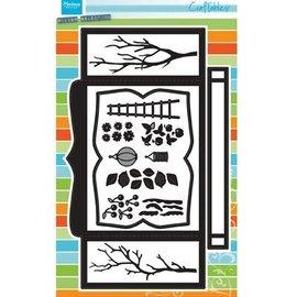 Marianne Design Punching template: CR1374, Box Card