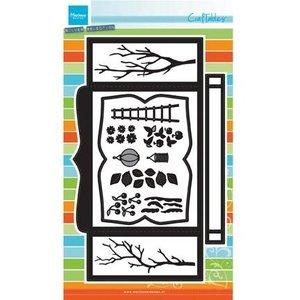 Marianne Design Stansning skabelon: CR1374, Box-kort