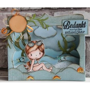 Marianne Design Punching template: CR1374, Box Card