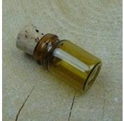 Embellishments / Verzierungen 3 bottiglie di vetro mini, 18 x 10 mm
