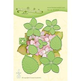 Leane Creatief - Lea'bilities und By Lene Snij en embossing Sjablonen: Multi die flower, Hydrangea