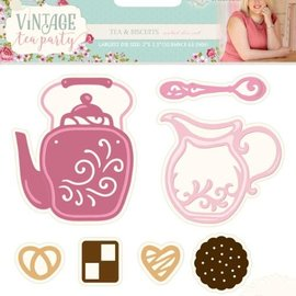 Crafter's Companion Cutting and embossing template: Vintage Tea Party