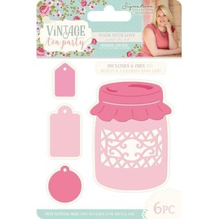 Crafter's Companion Cutting and embossing template: Vintage Tea Party, made with love