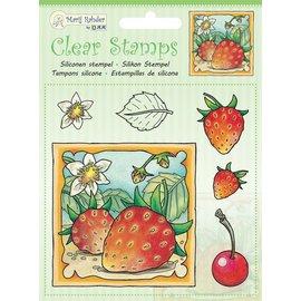 Transparant Stempel: het oogsten van aardbeien