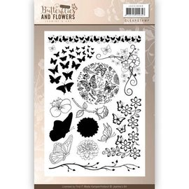 Joy!Crafts / Jeanine´s Art, Hobby Solutions Dies /  Stamp trasparente: Farfalle e Fiori Classic