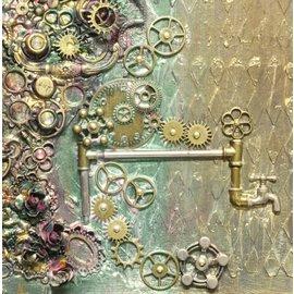 FARBE / MEDIA FLUID / MIXED MEDIA UTEE pregepulver, bronse