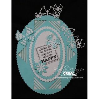 Craftemotions cutting and embossing template: 3 butterflies