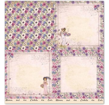 "LaBlanche 1 sheet, LaBlanche Papers ""Anemone"" 4"
