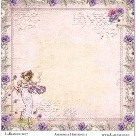 "LaBlanche 1 Bogen, LaBlanche Papers ""Anemone"" 2"