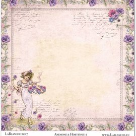 """LaBlanche 1 sheet, LaBlanche Papers """"Anemone"""" 2"""
