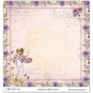 "LaBlanche 1 sheet, LaBlanche Papers ""Anemone"" 2"