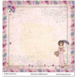 "LaBlanche 1 sheet, LaBlanche Papers ""Anemone"" 1"