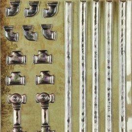 LaBlanche 3 autocollants dimensions / gaufrées avec un métal brillant finlandais et fort.