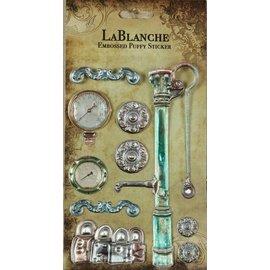 LaBlanche 3 Dimensional / Geprägte Aufkleber mit einem glänzenden finnisch und metallischen Highlight.