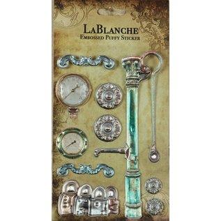 LaBlanche 3 dimensionale / Reliëf stickers met een glanzende metallic Finse en hoogtepunt.