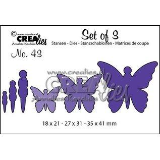 Crealies und CraftEmotions modello di taglio e goffratura: 3 farfalle