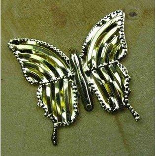Embellishments / Verzierungen Versieringen, drie vlinders, ongeveer 40 mm