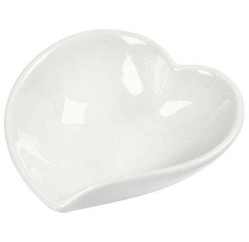 Objekten zum Dekorieren / objects for decorating piatto di porcellana a forma di cuore, 8cm, 1 parte