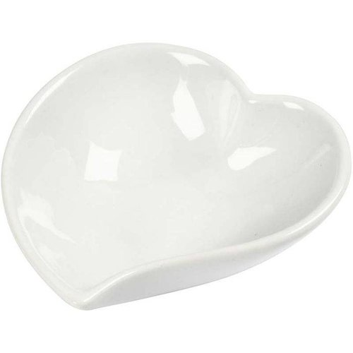 Objekten zum Dekorieren / objects for decorating en forme de coeur vaisselle en porcelaine, 8cm, une pièce