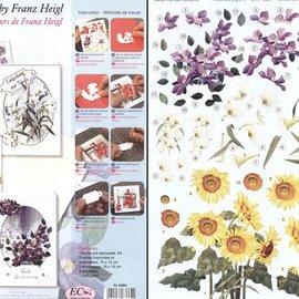 BASTELSETS / CRAFT KITS tarjetas de flores Bastelset
