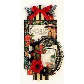 GRAPHIC 45 Designersblock: Grafisk 45, Couture Collection, 20,5 x 20,5 cm