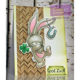 Crafters Company: BeBunni Rubber zegel, BeBunni, Lucky