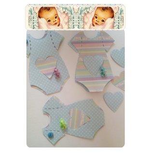 BASTELSETS / CRAFT KITS Kaarten Kit  voor 6 babykaarten + enveloppen
