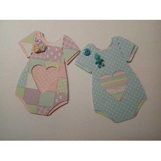 BASTELSETS / CRAFT KITS Complete card set for 6 baby cards + envelopes