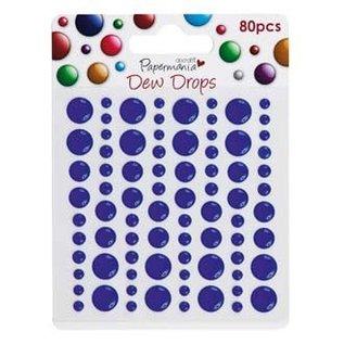 BASTELZUBEHÖR, WERKZEUG UND AUFBEWAHRUNG 80 adhesive Dew Drops, dark blue