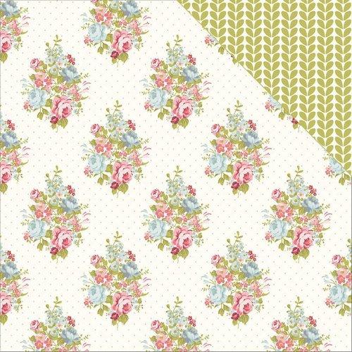 Designer Papier Scrapbooking: 30,5 x 30,5 cm Papier Designerpapier, Rosen Papier Set mit 6 Blatt, 30,5