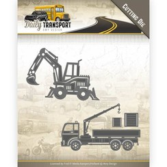 AMY DESIGN, Cutting and embossing template: Transportation