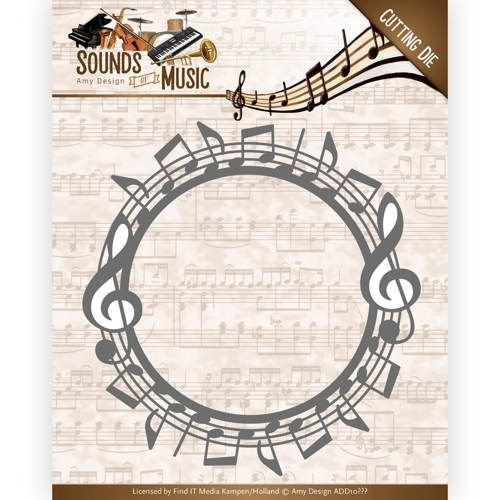AMY DESIGN AMY DESIGN, Snij en embossing sjabloon: Sounds of Music - Music Border