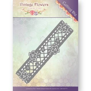 Joy!Crafts / Jeanine´s Art, Hobby Solutions Dies /  Jeanine's Art, Cutting and embossing template: Floral Border, Format ca. 4,3 x 13,5 cm.