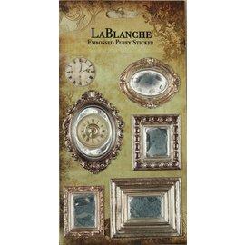 LaBlanche 3 pegatinas dimensionales / grabada con un brillo metálico finlandesa y destacado