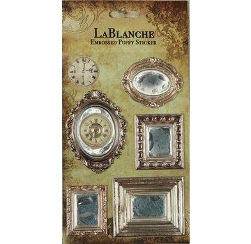 LaBlanche 3 Dimensional / Præget klistermærker med en skinnende metallisk finsk og highlight