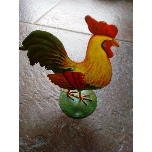 Objekten zum Dekorieren / objects for decorating Decoratieve kip met mooi schilderij.