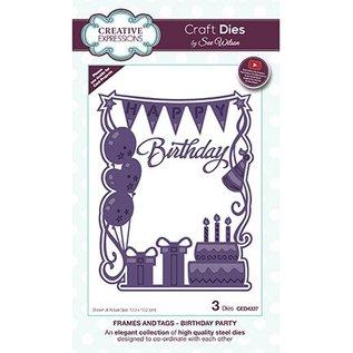 CREATIVE EXPRESSIONS und COUTURE CREATIONS CREATIVE EXPRESSIONS, modello di taglio e goffratura: Birthday Party
