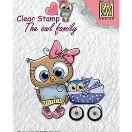 Nellie Snellen Nellie Snellen, Transparent Stempel: The owl family