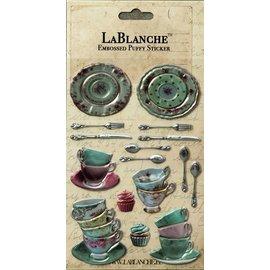 LaBlanche Lablanche, 3 adesivi dimensionale / goffrato con una lucentezza finlandese e metallizzata