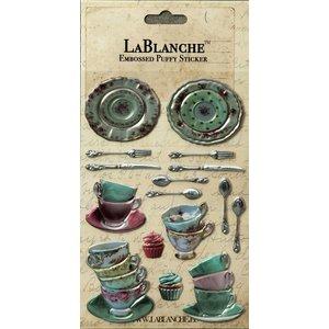 LaBlanche Lablanche, 3 Dimensional / prægede klistermærker med en skinnende finsk og metallisk højdepunkt