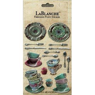 LaBlanche Lablanche, 3 dimensionale / Reliëf stickers met een glanzende metallic Finse en hoogtepunt