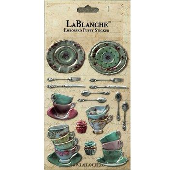 LaBlanche Lablanche, 3 Dimensional / Geprägte Aufkleber mit einem glänzenden finnisch und metallischen Highlight