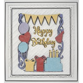 CREATIVE EXPRESSIONS und COUTURE CREATIONS CREATIVE EXPRESSIONS, cutting and embossing template: Birthday Party
