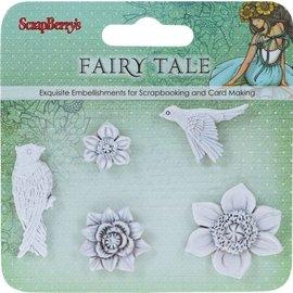 Set Polymer Items Fairy Tale Birds